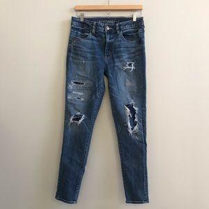 American Eagle Distressed Hi-Rise Jegging Jeans